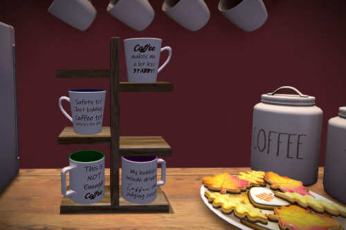 But First, Coffee!  https://themanyfacesofmelyna.blogspot.com/2020/12/771-but-first-coffee.html #SecondLife #Collect #TwistedKrissmuss #virtualhomedecor #SLshopping #coffeecups #teacups #Cocoacups #holidays #whatnext